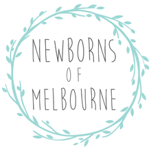 Logo for Newborns of Melbourne. Newborn photography coffee table book project.