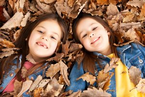 Two girls close up Face in Autumn Photography Macedon Ranges